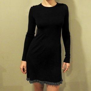 Chic black wool dress